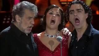 Пласидо Доминго, Анна Нетребко  и Роландо Виллазон
