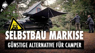 Günstige SELBSTBAU Markise / Sonnensegel ☀️ für VW AMAROK, Offroad-Camper oder Bus/Minivan DIY