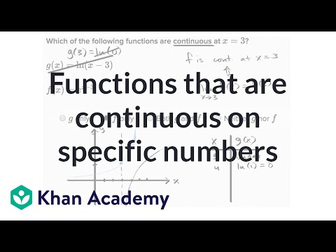 Functions continuous at specific x-values (video) | Khan Academy