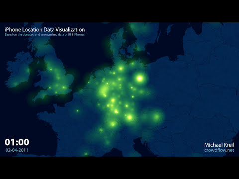 Cool Visuals: Watch iPhones Traverse Europe Like Fireflies
