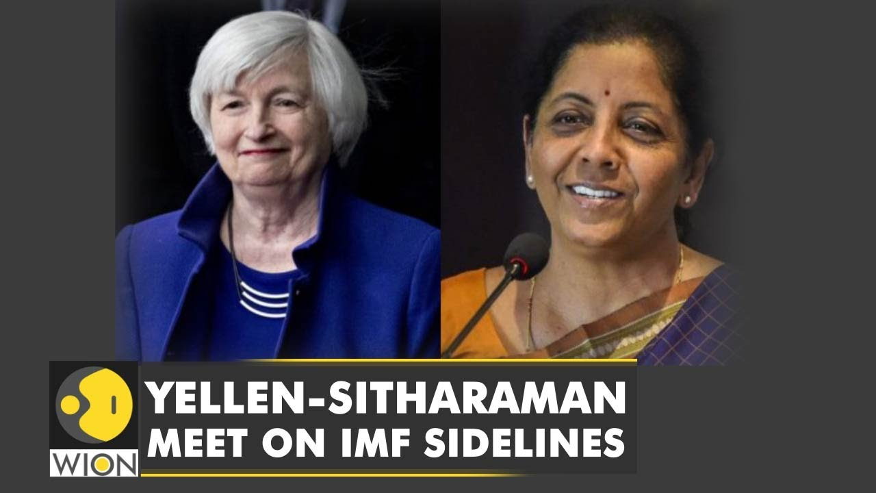 U.S. Treasury Secretary Janet Yellen to satisfy Indian equivalent Nirmala Sitharaman|WION News thumbnail