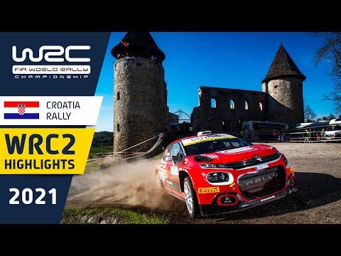 WRC2 2021 第3戦ラリー・クロアチア Day2ハイライト動画