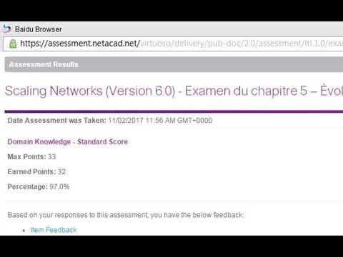 CCNA3 chapitre 5 version 6 solution 100% - YouTube