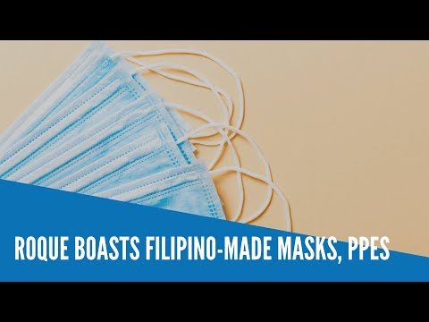 [Inquirer]  Roque boasts Filipino-made masks, PPEs
