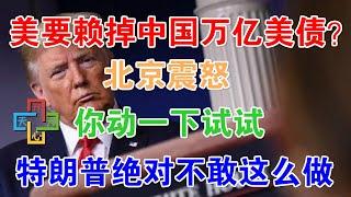 美国要赖掉欠中国万亿美债?北京震怒,你动一下试试!特朗普绝对不敢这么做