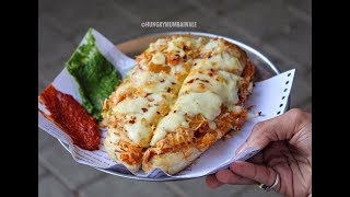 BURSTING CHEESE CHILLI TOAST SANDWICH  | CURRY POTATO PANINI | Raju Sandwich | Indian Street Food