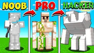 MINECRAFT NOOB vs PRO vs HACKER GOLEMS!