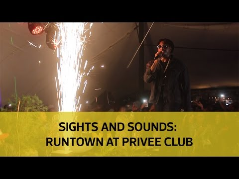 Sights and Sounds: Runtown at Privee Club