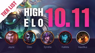 HIGH ELO LoL Tier List Patch 10.11 + Q&A by Mobalytics - League of Legends Season 10