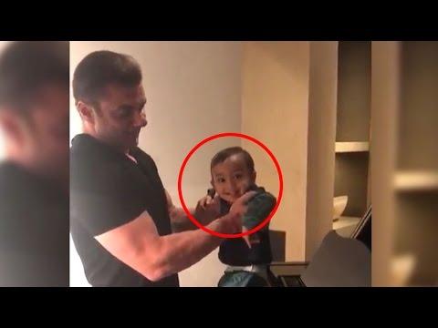 Salman Khan's CUTE bhanja Ahil dances on Piano