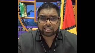Update by President-Elect Dr Irfaan Ali July 20th 2020