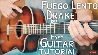 Fuego Lento Drake Bell Guitar Tutorial // Fuego Lento Guitar // Guitar Lesson #695