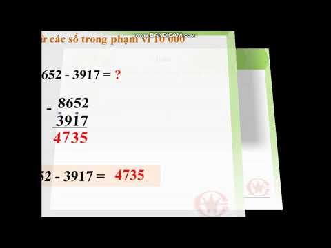 Môn Toán Lớp 3, bài Phép trừ các số trong phạm vi 10.000 (GV Trần Thị Diễm Mi, Trường TH C Phú Mỹ)