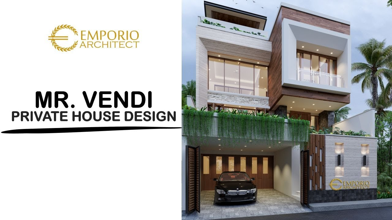 Video 3D Mr. Vendi Modern House 3 Floors Design - Petitenget, Badung, Bali