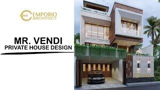 Video Desain Rumah Modern 3 Lantai Bapak Vendi di  Petitenget, Badung, Bali