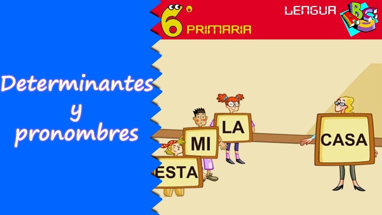 Determinantes y pronombres. Lengua, 6º Primaria