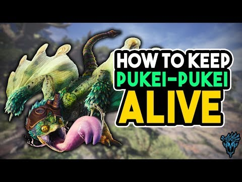 MHW How To ALWAYS Keep Pukei-Pukei Alive in Witcher Quest - Monster Hunter World