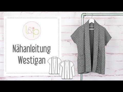 Nähanleitung lillesol Westigan - einen Cardigan oder eine Weste aus Strickstoffen nähen