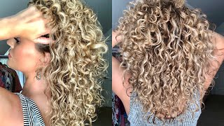 HOW I APPLY PRODUCTS TO MY CURLY HAIR | The Glam Belle
