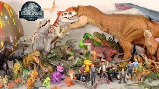 My HUGE Jurassic World Movie Dinosaur Toys Collection: 100+ Toy Dinosaurs + Surprise Dino Egg