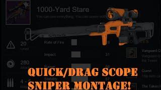 Destiny Quickscoping - 98% Sniper headshots Montage (quickscope, drag snipes included)