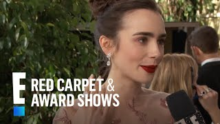 Lily Collins Drops The Mic For Meryl Streep  E Live From The Red Carpet