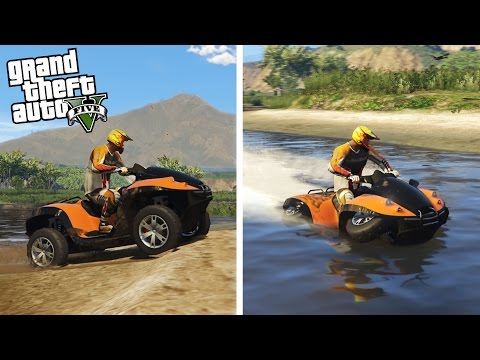 AMPHIBIOUS ATV! 4×4 Mudding, Jet Skiing, & Off-Roading! Gibbs Quadski (GTA 5 PC Mods)