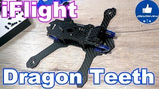 ✔ FPV Рама iFlight Dragon Teeth - Freestyle Frame. 220mm Low Rider!