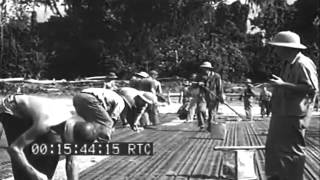 WW2 Seabees On Bougainville; Aerial Views, Munda, 1943 (full)