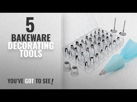 Top 10 Bakeware Decorating Tools [2018]: Kootek 42 Pieces Cake Decorating Supplies Kit with 36 Icing