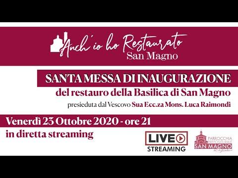 Messa per il restauro esterno della Basilica di Legnano