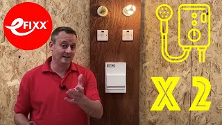 Connecting 2 electric showers using Garo priority and non-priority boards.