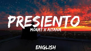Morat, Aitana   Presiento ( Letra  Lyrics  English Version  BASS BOOSTED) English Translation
