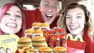 EATING EVERY DOLLAR MENU ITEM!! *MUKBANG W/ MATT KING*