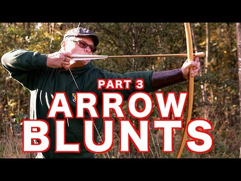 Warbow Arrow Blunt Tips on a Pole Lathe (Bloopers at the End) Part 3