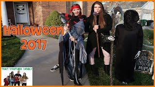 Halloween 2017 COSTUMES, HOUSE DECORATIONS And CANDY HAUL!! / That YouTub3 Family