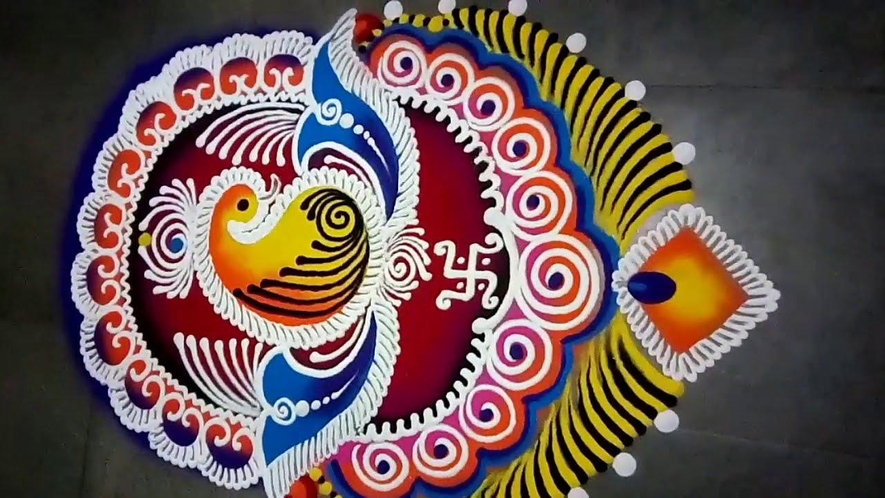 simple and beautiful sanskar bharti rangoli by jyoti