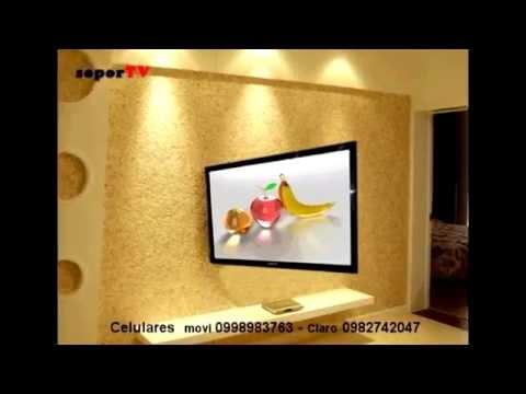 Soportes brazo plegable y giratorio a techo, de televisor lcd led en Quito