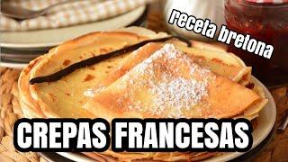 RECETA DE CREPAS  A LA FRANCESAS 🇫🇷 receta original