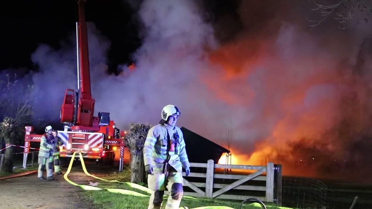 Ommeren – Grote brand in woonboerderij