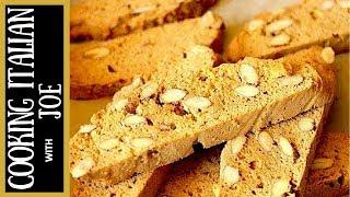 Homemade Almond Biscotti Cookies | Cooking Italian With Joe