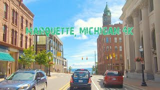 The Largest City In Michigan's Upper Peninsula: Marquette, Michigan 4K.