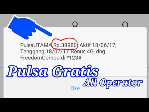 Video Trik mendapat pulsa gratis All operator