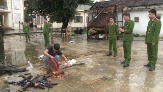 Tin Tức 24h: Nghệ An tiến hành tiêu hủy 153 khẩu súng tự chế