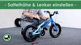 Sattelhöhe und Lenker beim Kinderfahrrad richtig einstellen - so funktioniert´s!