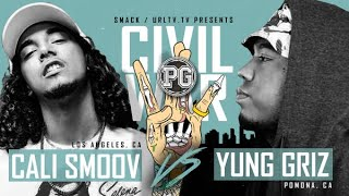 CALI SMOOV VS YUNG GRIZZ SMACK/ URL RAP BATTLE