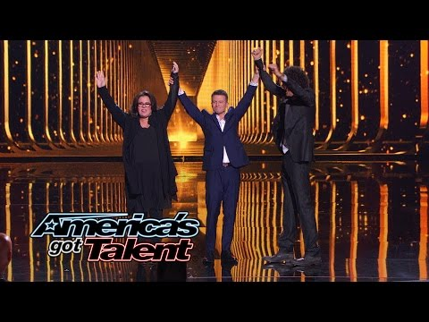 Mat Franco: Rosie O'Donnell and Howard Stern Help With Card Trick - America's Got Talent 2014 Finale (видео)