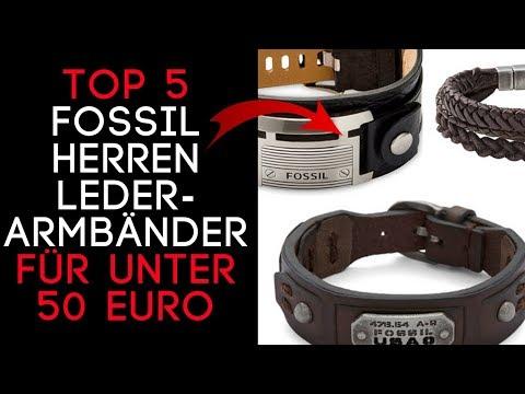 FOSSIL Armband Herren aus Leder - Top 5 Armbänder unter 50 Euro - Günstiges Geschenk für Männer