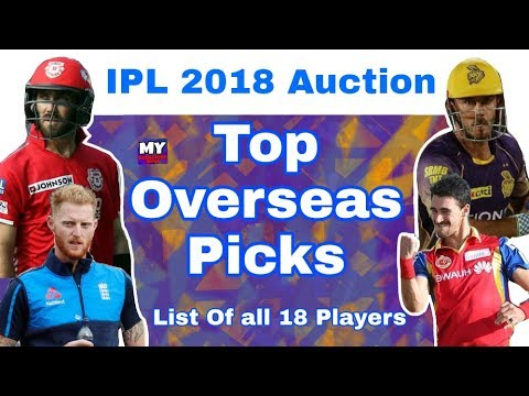 IPL 2018 Auction : Top Overseas & Foreign Players Picks | List Of All 18 Players