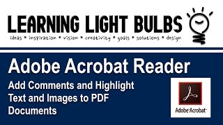 Adobe Acrobat Reader | Add Comments and Highlight Text and Images to PDF Documents